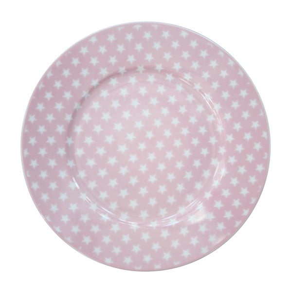 Dezertní talíř Krasilnikoff Stars Pink