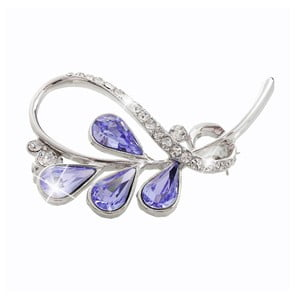 Broșă Swarovski Elements Laura Bruni Smoona Violet