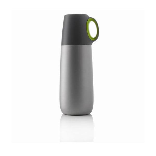 Zelená termoska s hrnčekom XD Design Bopp, 600 ml