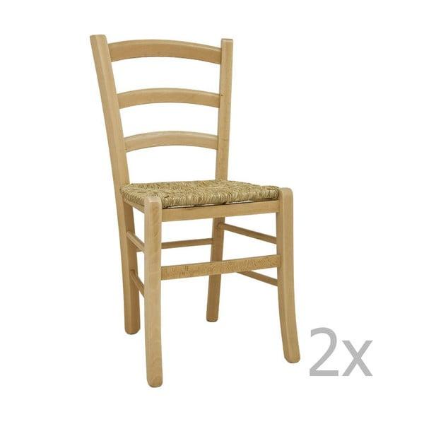 Sada 2 židlí Castagnetti Lavagna, přírodní