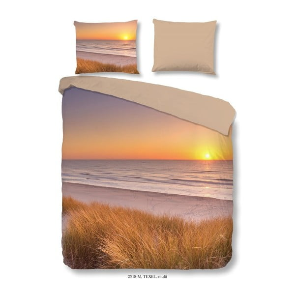 Pościel dwuosobowa z mikroperkalu Muller Textiels Sunset, 240x200 cm