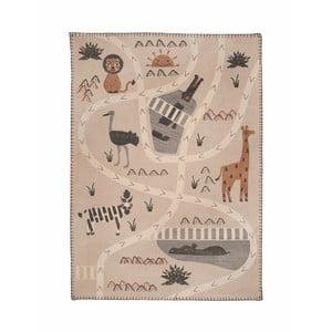 Dětský ručně potištěný koberec Nattiot Little Savannah,100x140cm