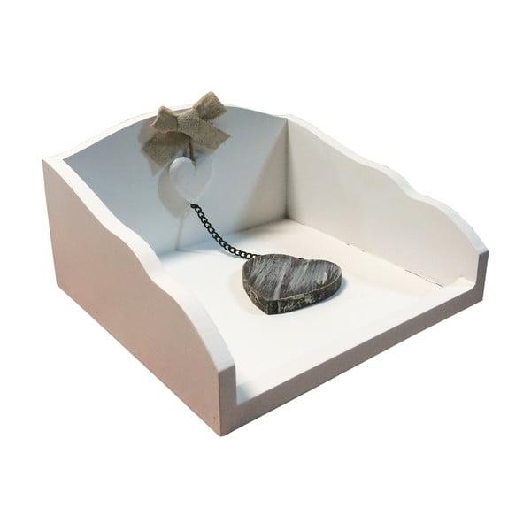 Bílý box na ubrousky s těžítkem Bolzonella