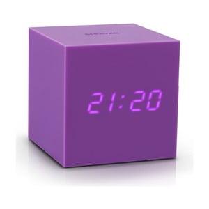 Ceas deșteptător cu LED Gingko Gravity Cube, mov