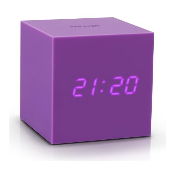 Gravitry Cube lila ébresztőóra LED kijelzővel - Gingko