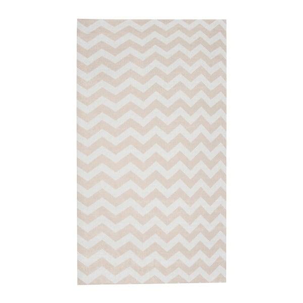 Béžovo-bílý běhoun Floorita Optical, 60 x 220 cm