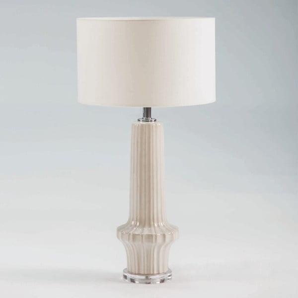 Biała ceramiczna lampa stołowa bez abażuru Thai Natura, wys. 58 cm