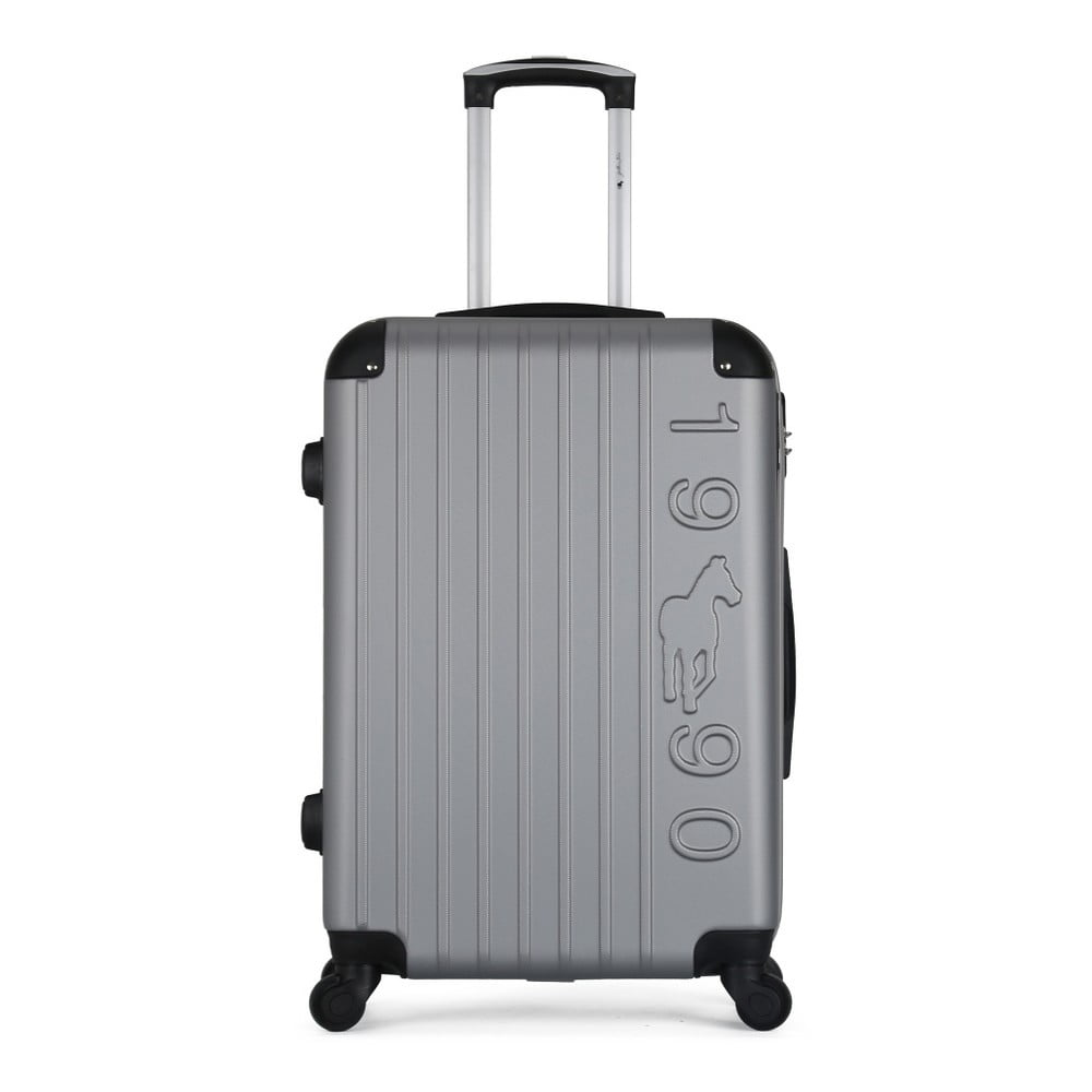 Šedý cestovní kufr na kolečkách GENTLEMAN FARMER Valise Grand Cadenas Integre Malo, 35 x 55 cm