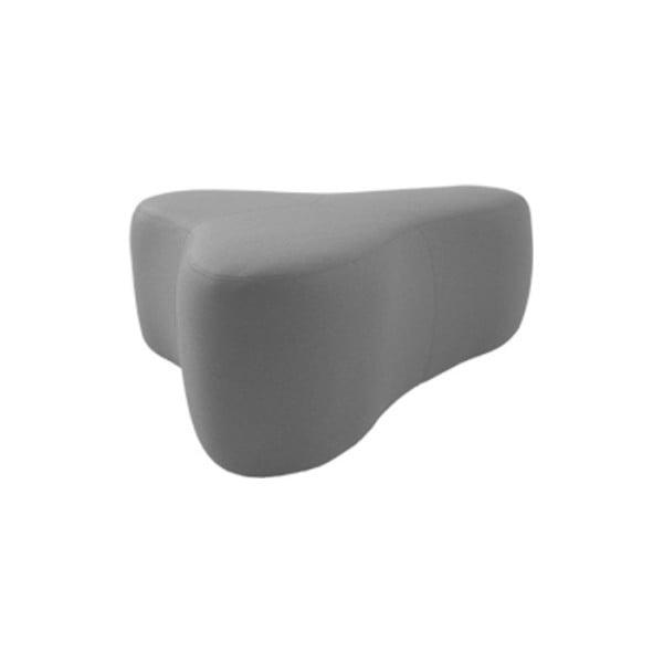 Světle šedý puf Softline Chat Valencia Grey, délka 90 cm