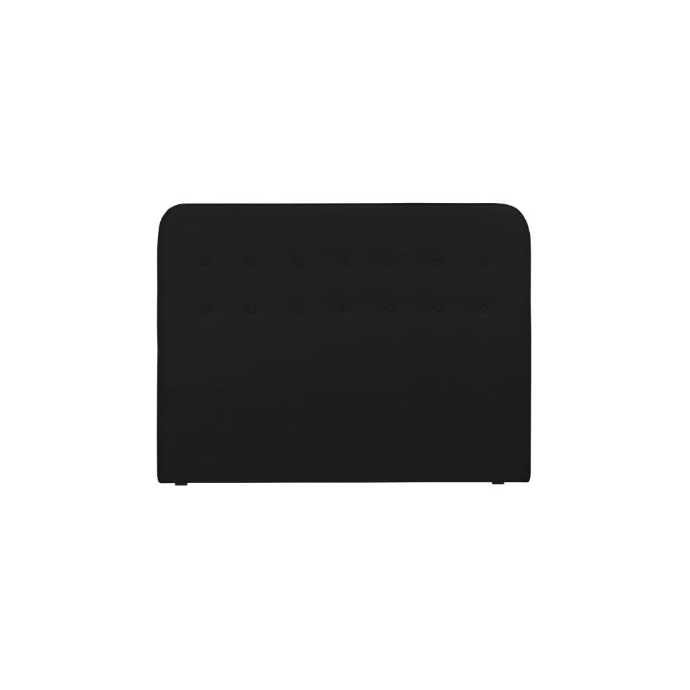 Černé čelo postele HARPER MAISON Lena, 140 x 120 cm