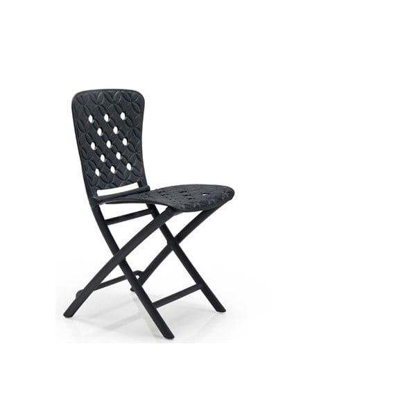 Sada 2ks skládací židle Zac Spring Antracite + skládací stůl Zic Antracite
