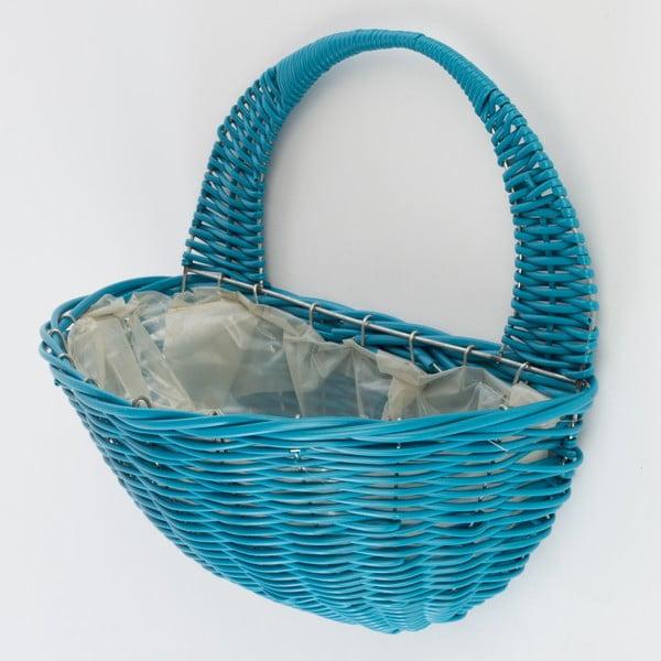 Nástěnný ratanový květináč Baskie Blue