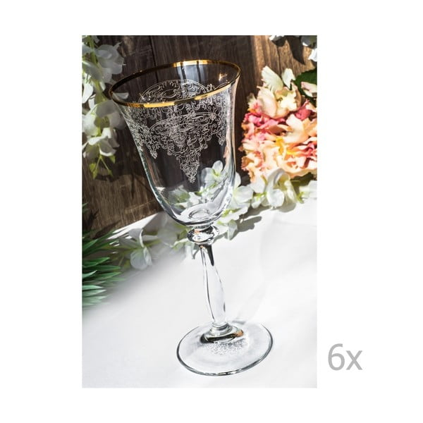 Sada 6 sklenených pohárov Stamatia, 250 ml
