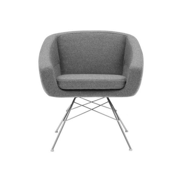 Aiko Felt Melange Light Grey világosszürke fotel - Softline