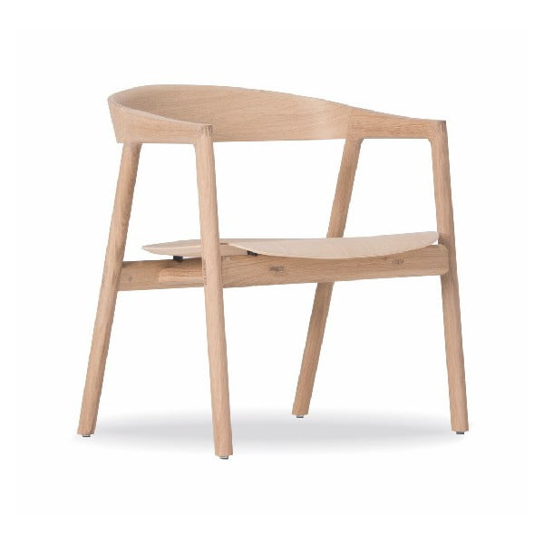 Scaun din lemn de stejar Gazzda Muna