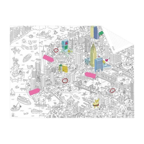 Kapesní omalovánka mapa New York
