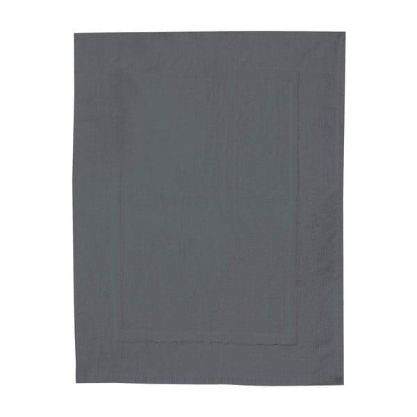 Antracitově šedá bavlněná koupelnová předložka Wenko, 50x70cm