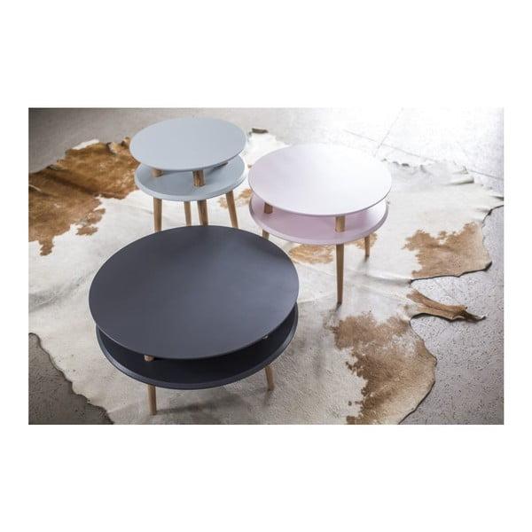 Grafitově šedý konferenční stolek Ragaba UFO,Ø45 cm