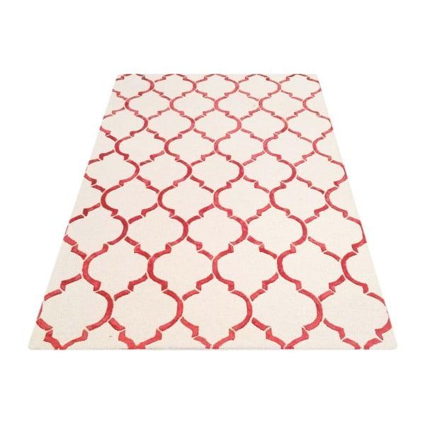 Ručně tuftovaný koberec Bakero Chain Red, 122x183cm