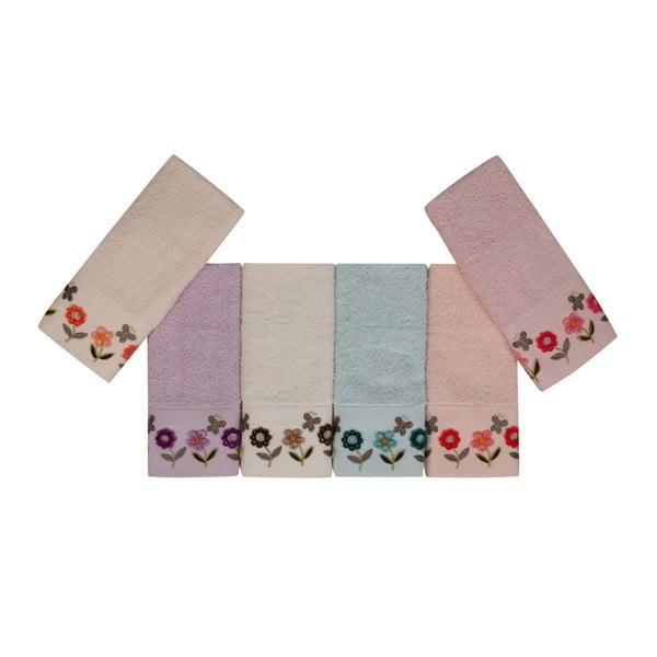 Sada 6 barevných ručníků z čisté bavlny Bali, 30 x 50 cm