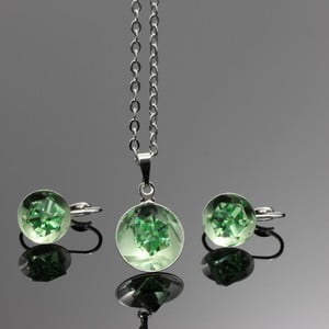 Set Swarovski Elements Bijouterie Green