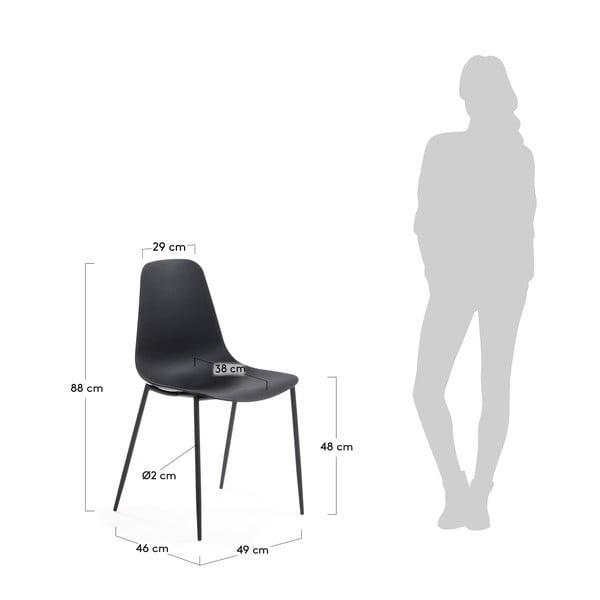 Sada 4 černých jídelních židlí La Forma Wassu