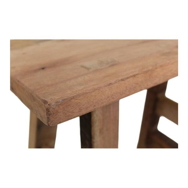 Lavice z teakového dřeva HSM collection Rustic, délka 50 cm