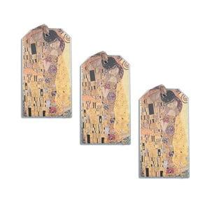 Gustav Klimt - set tří záložek do knihy Kiss