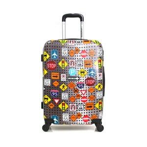 Barevný cestovní kufr na kolečkách American Travel, 75 l