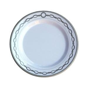 Sada 6 melaminových talířků Sunvibes Chaine, ⌀ 20 cm