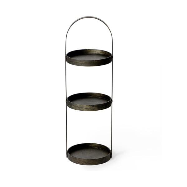 Dřevěný stojan do koupelny Wireworks Round Caddy Dark, 3police