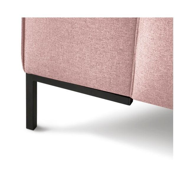 Růžová rohová čtyřmístná pohovka Cosmopolitan Design Seville, levý roh