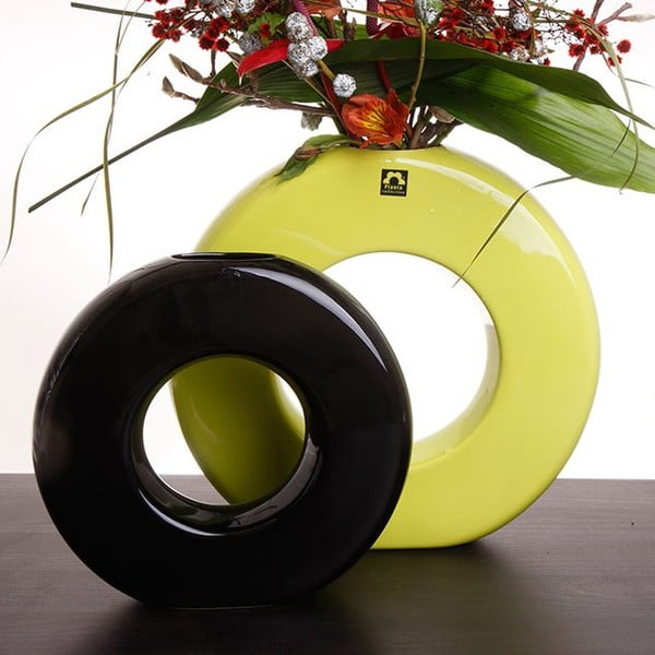 Váza Seina 35 cm, černá