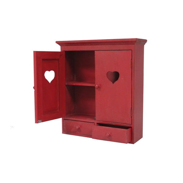 Červená nástěnná skříňka AnticLine