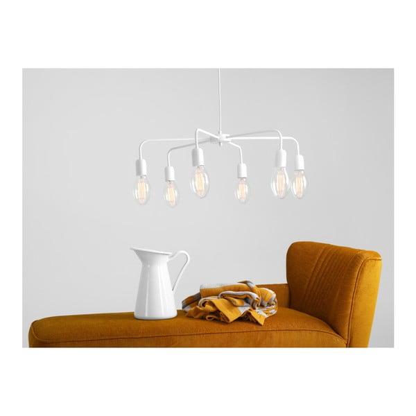 Bílé závěsné světlo Custom Form Croser