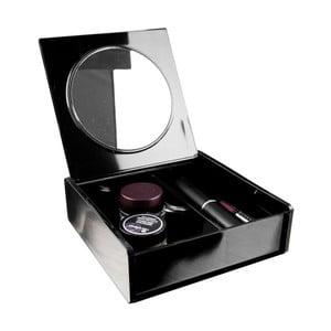 Organizator pentru cosmetice cu oglindă Compactor, negru