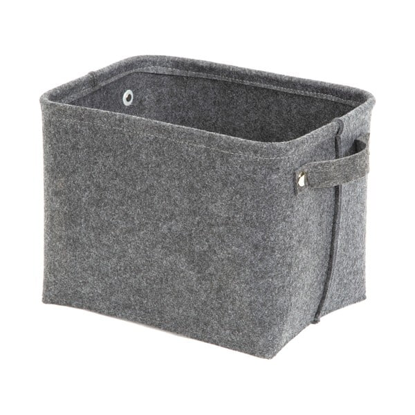 Szary filcowy koszyk Compactor Felt Basket, 29x24 cm