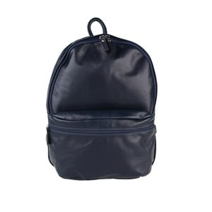 Tmavě modrý kožený batoh Chicca Borse Gio