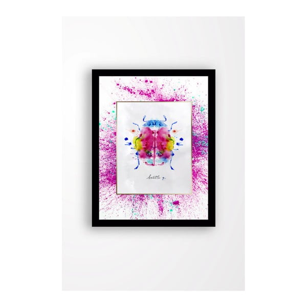 Nástěnný obraz na plátně v černém rámu Tablo Center Bug, 29 x 24 cm