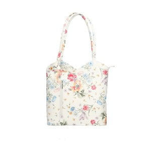 Kožená květovaná kabelka Chicca Borse Paraya Flowers