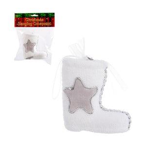 Bílá dekorativní bota na dárky Unimasa