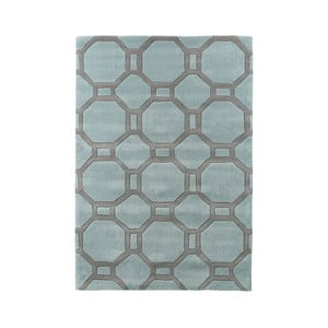 Modro-šedý koberec Think Rugs Tile, 90 x 150 cm