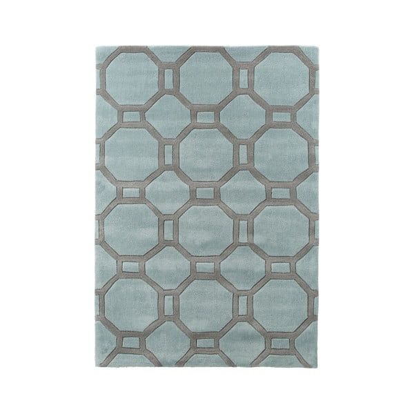Modro-šedý Koberec Think Rugs Tile, 120 x 170 cm