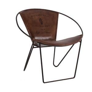 Židle z kovu a kůže VICAL HOME Liver