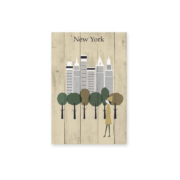 Nástěnná cedule New York