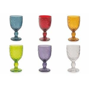 Sada 6 barevných sklenic na víno Villa d'Este Rombi, 280 ml
