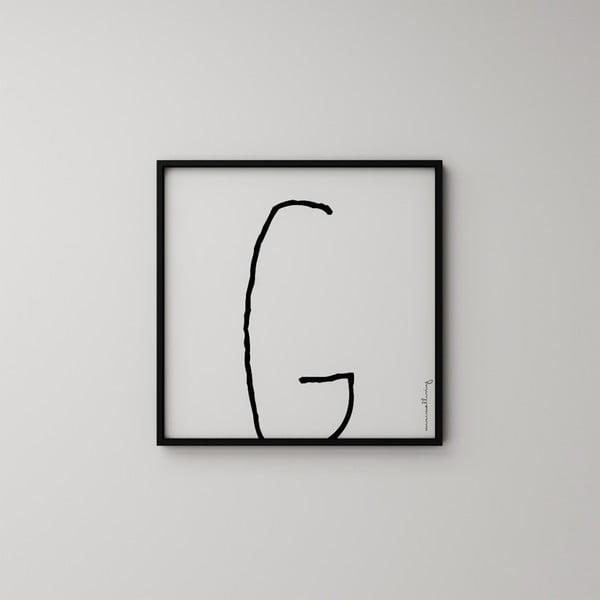 Plakát Litera G, 50x50 cm