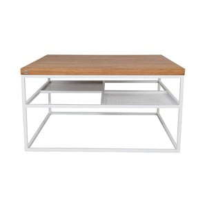 Bílý konferenční stolek Take Me HOME Foursquare, 80x80cm