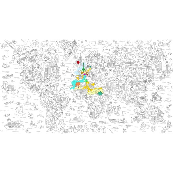 Omalovánka OMY Atlas XXL (180 x 100 cm)