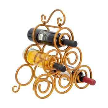 Suport pentru sticle de vin Mauro Ferretti, auriu imagine
